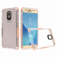 *Sale* Transparent Protective Bumper Case for Samsung Galaxy J7 (2018) - Rose Gold