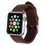 Handmade Genuine Leather Watch Band for Apple Watch 42mm - Dark Brown