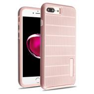 Haptic Dots Texture Anti-Slip Hybrid Armor Case for iPhone 8 Plus / 7 Plus - Rose Gold 64A
