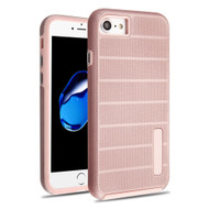 Haptic Dots Texture Anti-Slip Hybrid Armor Case for iPhone 8 / 7 - Rose Gold 64A
