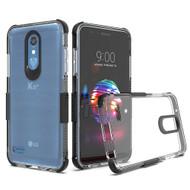 Transparent Protective Bumper Case for LG K30 - Black
