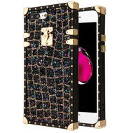 *Sale* Luxury Sequin Case with Golden Buckle and Corners for iPhone 8 Plus / 7 Plus - Black