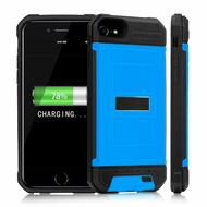 Smart Power Bank Battery Armor Case 3000mAh for iPhone 8 / 7 / 6S / 6 - Blue