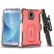 *Sale* HD Holster Case + Tempered Glass for Samsung Galaxy J3 (2018) - Red