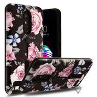 *Sale* Finger Loop Case with Kickstand for LG K30 - Dark Roses