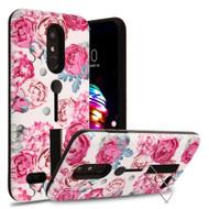 *Sale* Finger Loop Case with Kickstand for LG K30 - Victorian Flower
