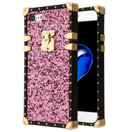 *Sale* Luxury Sequin Case with Golden Buckle and Corners for iPhone 8 / 7 - Pink