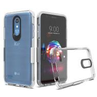 Transparent Protective Bumper Case for LG K30 - White