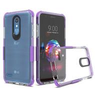Transparent Protective Bumper Case for LG K30 - Purple