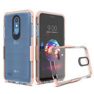 Transparent Protective Bumper Case for LG K30 - Rose Gold