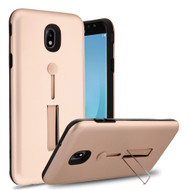 *Sale* Finger Loop Case with Kickstand for Samsung Galaxy J7 (2018) - Rose Gold