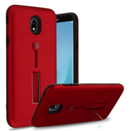 *Sale* Finger Loop Case with Kickstand for Samsung Galaxy J7 (2018) - Red