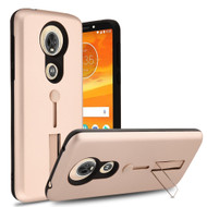 Finger Loop Case with Kickstand for Motorola Moto E5 Plus - Rose Gold