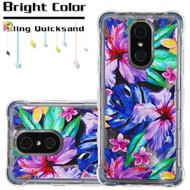 Tuff Lite Quicksand Case for LG Stylo 4 - Watercolor Hibiscus