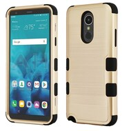 Military Grade Certified Brushed TUFF Hybrid Armor Case for LG Stylo 4 - Gold