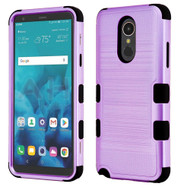 Military Grade Certified Brushed TUFF Hybrid Armor Case for LG Stylo 4 - Purple