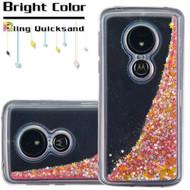 Quicksand Glitter Transparent Case for Motorola Moto G6 Play / G6 Forge - Pink
