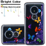 Quicksand Glitter Transparent Case for Motorola Moto G6 Play / G6 Forge - Butterfly Dancing