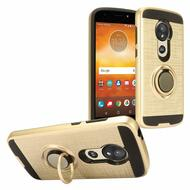 Sports Hybrid Armor Case with Smart Loop Ring Holder for Motorola Moto E5 Play / E5 Cruise - Gold