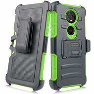 Advanced Armor Hybrid Kickstand Case with Holster for Motorola Moto E5 Play / E5 Cruise - Green