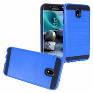 Brushed Coated Hybrid Armor Case for Samsung Galaxy J7 (2018) - Blue
