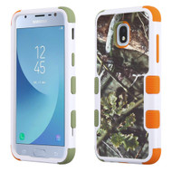 Military Grade Certified TUFF Image Hybrid Armor Case for Samsung Galaxy J3 (2018) - English Oak Hunting Camouflage