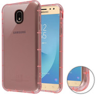Air Sacs Transparent Anti-Shock TPU Case for Samsung Galaxy J7 (2018) - Pink