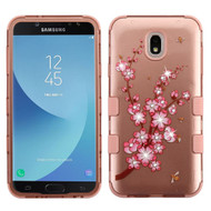Military Grade Certified TUFF Image Hybrid Armor Case for Samsung Galaxy J7 (2018) - Spring Flower Rose Gold