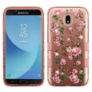 Military Grade Certified TUFF Image Hybrid Armor Case for Samsung Galaxy J7 (2018) - Pink Roses Rose Gold
