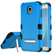 Military Grade Certified TUFF Hybrid Armor Case with Stand for Samsung Galaxy J7 (2018) - Blue