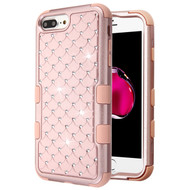 Military Grade Certified TUFF Diamond Hybrid Armor Case for iPhone 8 Plus / 7 Plus / 6S Plus / 6 Plus - Rose Gold