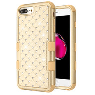 Military Grade Certified TUFF Diamond Hybrid Armor Case for iPhone 8 Plus / 7 Plus / 6S Plus / 6 Plus - Gold