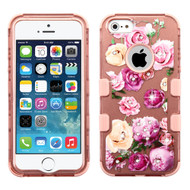 Military Grade Certified TUFF Image Hybrid Case for iPhone SE / 5S / 5 - Roses Rose Gold