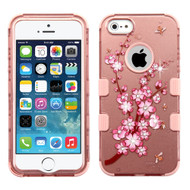 Military Grade Certified TUFF Image Hybrid Case for iPhone SE / 5S / 5 - Spring Flower Rose Gold
