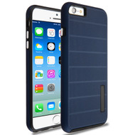 Haptic Dots Texture Anti-Slip Hybrid Armor Case for iPhone 6 / 6S - Navy Blue