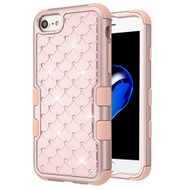 Military Grade Certified TUFF Diamond Hybrid Armor Case for iPhone 8 / 7 / 6S / 6 - Rose Gold