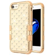 Military Grade Certified TUFF Diamond Hybrid Armor Case for iPhone 8 / 7 / 6S / 6 - Gold