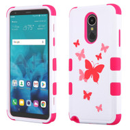 Military Grade Certified TUFF Image Hybrid Armor Case for LG Stylo 4 - Butterfly Dancing