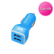 Mybat Universal Dual USB Vehicle Car Charger 3.1A - Blue 10D