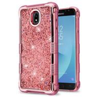 Tuff Lite Quicksand Electroplating Case for Samsung Galaxy J7 (2018) - Rose Gold