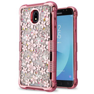 Tuff Lite Quicksand Electroplating Case for Samsung Galaxy J7 (2018) - Hibiscus Rose Gold