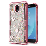 Tuff Lite Quicksand Electroplating Case for Samsung Galaxy J7 (2018) - Butterflies in Spring