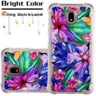 Tuff Lite Quicksand Case for Samsung Galaxy J7 (2018) - Watercolor Hibiscus