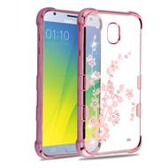 TUFF Klarity Electroplating Transparent Anti-Shock TPU Diamond Case for Samsung Galaxy J3 (2018) - Spring Flower