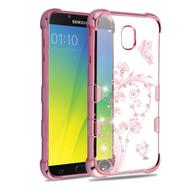 TUFF Klarity Electroplating Transparent Anti-Shock TPU Diamond Case for Samsung Galaxy J7 (2018) - Lily of Valley
