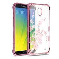 TUFF Klarity Electroplating Transparent Anti-Shock TPU Diamond Case for Samsung Galaxy J7 (2018) - Spring Flower