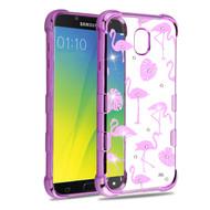 TUFF Klarity Purple Plating Transparent Anti-Shock TPU Diamond Case for Samsung Galaxy J7 (2018) - Flamingo Land