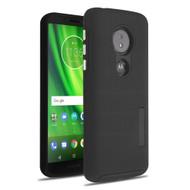 Haptic Dots Texture Anti-Slip Hybrid Armor Case for Motorola Moto G6 Play / G6 Forge - Black