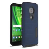 Haptic Dots Texture Anti-Slip Hybrid Armor Case for Motorola Moto G6 Play / G6 Forge - Navy Blue