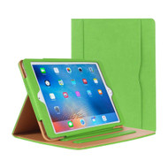 Slim Folding Stand Smart Leather Folio Case and Screen Protector for iPad (2018/2017) / iPad Air - Green